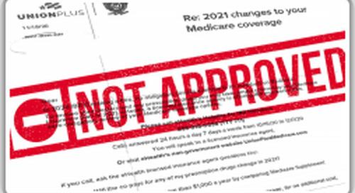 Misleading Medicare information sent with false endorsement