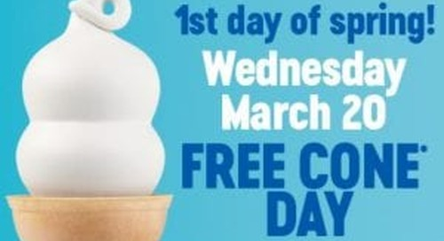 Free Cone Day at Dairy Queen for the First Day of Spring