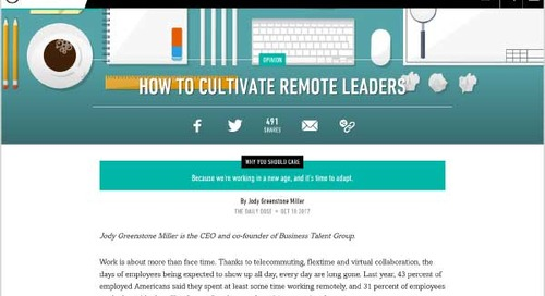 How to Cultivate Remote Leaders