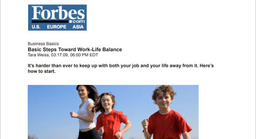 Basic Steps Toward Work-Life Balance