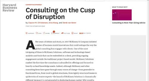 Consulting on the Cusp of Disruption