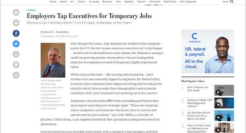 Employers Tap Executives for Temporary Jobs