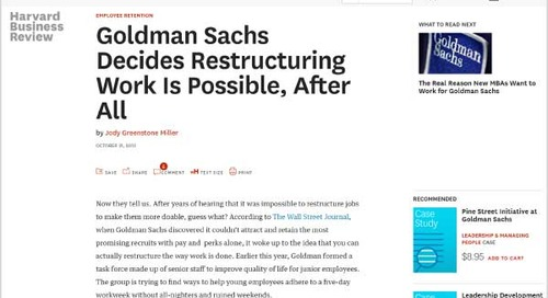 Goldman Sachs Decides Restructuring Work Is Possible, After All
