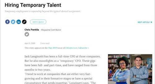 Hiring Temporary Talent