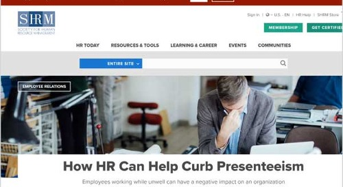 How HR Can Help Curb Presenteeism