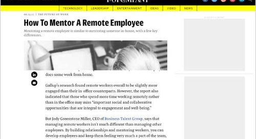How to Mentor a Remote Employee