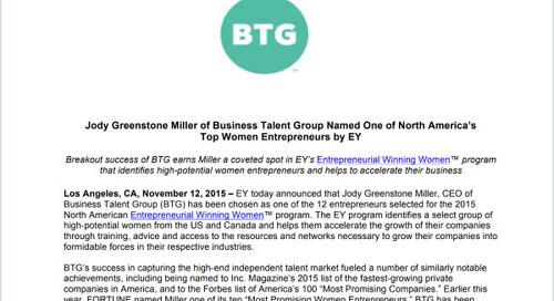 Jody Miller Earns Spot in EY's Entrepreneurial Winning Women Program