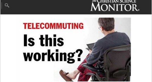 Telecommuting: Steady Growth in Work-at-Home Culture, Yahoo or Not