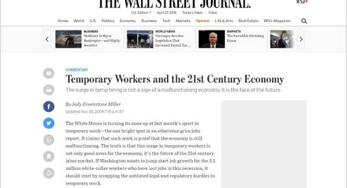 Temporary Workers and the 21st Century Economy