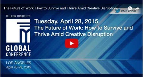 The Future of Work – How to Survive and Thrive Amid Creative Disruption
