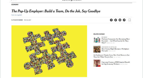 The Pop-Up Employer: Build a Team, Do the Job, Say Goodbye