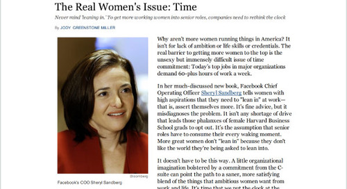 The Real Women's Issue: Time