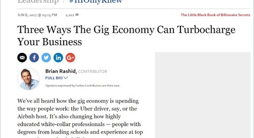 Three Ways the Gig Economy Can Turbocharge your Business