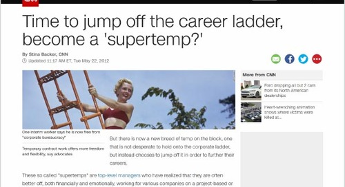 Time to Jump Off the Career Ladder, Become a 'Supertemp?'