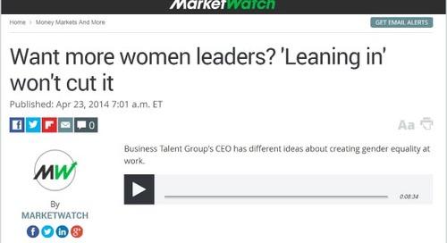 Listen: Want More Women Leaders? 'Leaning In' Won't Cut It