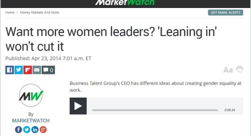 Listen: Want More Women Leaders? 'Leaning In' Won't Cut It