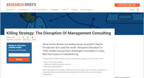 Killing Strategy: The Disruption of Management Consulting