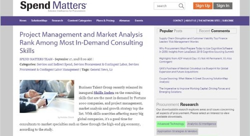 Project Management and Market Analysis Rank Among Most In-Demand Consulting Skills