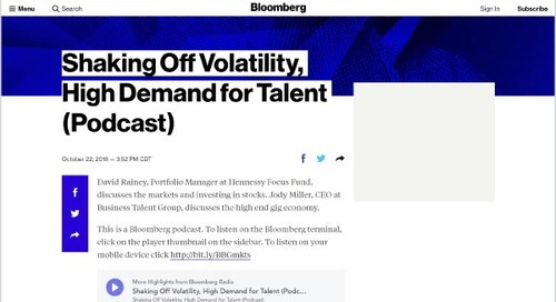 Shaking Off Volatility, High Demand for Talent (Podcast)