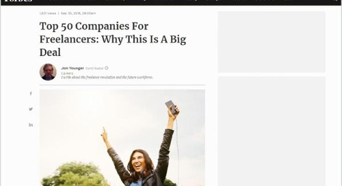 Top 50 Companies For Freelancers: Why This Is A Big Deal