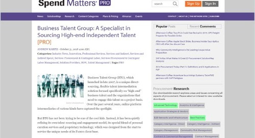 Business Talent Group: A Specialist in Sourcing High-End Independent Talent