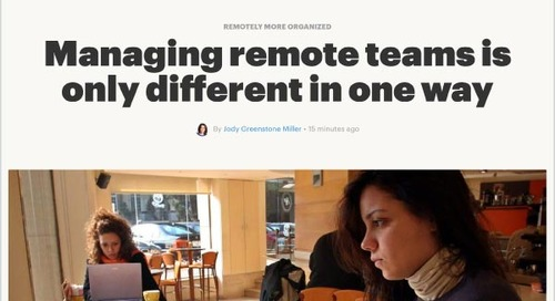 Managing Remote Teams Is Only Different in One Way