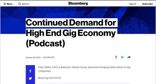Continued Demand for High-End Gig Economy (Podcast)