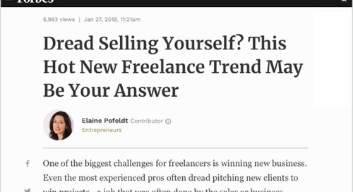 Dread Selling Yourself? This Hot New Freelance Trend May Be Your Answer