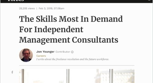 The Skills Most In Demand For Independent Management Consultants
