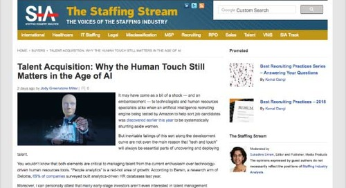 Talent Acquisition: Why the Human Touch Still Matters in the Age of AI