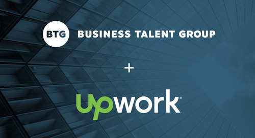 Upwork and Business Talent Group Join Forces to Offer Independent Talent More Project-Based Opportunities