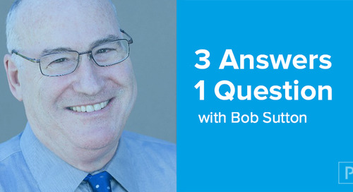 3 Answers, 1 Question, with Bob Sutton