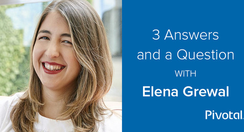 3 Answers and a Question with Elena Grewal