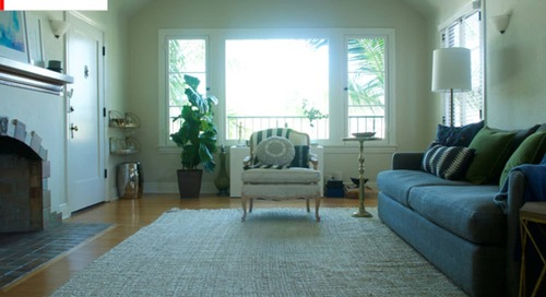 Before and After: A Sophisticated '20s Rental Living Room Makeover