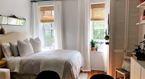 A Tiny 275-Square-Foot NYC Studio Is Packed With Small Space Ideas