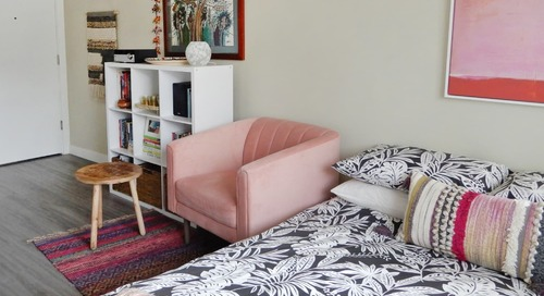 A 225-Square-Foot Micro Studio's Decor Is Inspired by a Comic Book Character