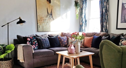 A Close-Knit Family of 6 Shares a Small 675-Square-Foot Home