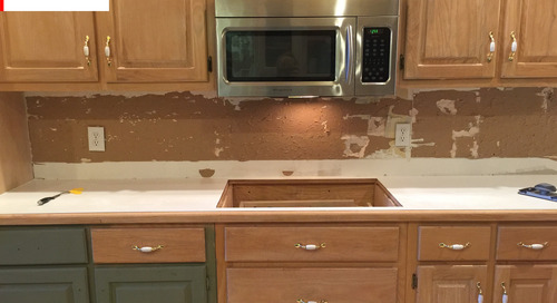 """Before & After: The """"I Can't Believe It's Not Real Marble"""" Makeover"""