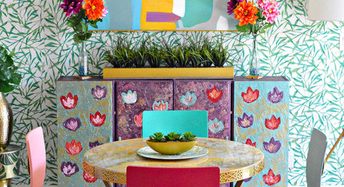 A DIY Rental Dining Room Is Incredibly Colorful and Patterned — House Call