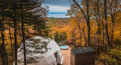Sleep in a Sustainable Geodesic Dome on the Canadian Forest