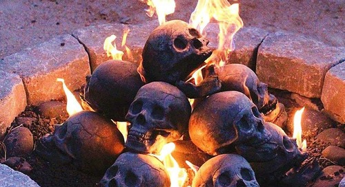 These Skull Logs Will Give You the Most Terrifying Fire for Halloween