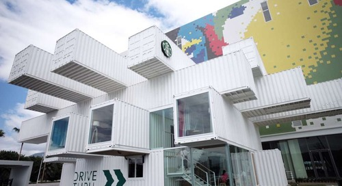 Starbucks Just Opened A Store In Taiwan Made Of Shipping Containers