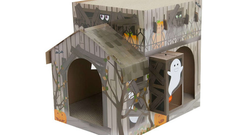 Target Sells a Spooky Haunted House for Cats and It's Under $20