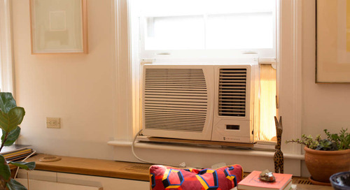 A Super Simple Way to Disguise a Window Air Conditioner in the Off Season