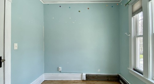 Before and After: A $36 Project Turns a Plain Bedroom into a Colorful Wonderland