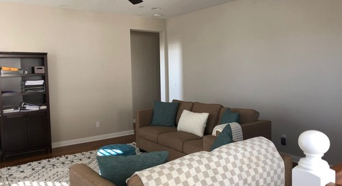 Before and After: This Wasted Space Got a Super Functional Makeover (and a Herringbone Feature Wall)