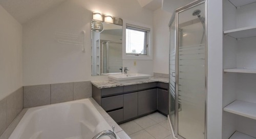 Before and After: A Boring Builder-Grade Bath Goes Positively Spa-Like