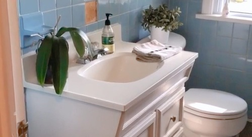 Before and After: A Total Bathroom Redo with a Vintage Spin