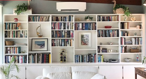 Before and After: A Bold Bookshelf Transformation for Less than $100