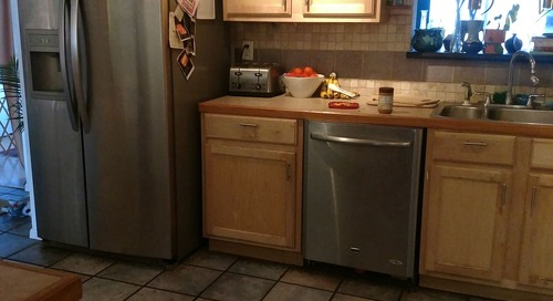 Before and After: The Best Part of This Full Kitchen Reno is the Ceiling